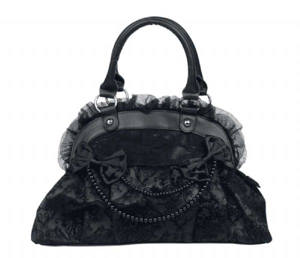 BANNED Ladies Gothic Black Bag